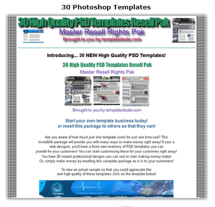 30 Photoshop Templates