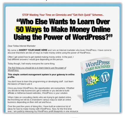 Wordpress Cash Machines