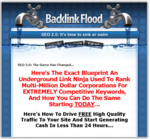 Backlink Flood eBook and Software