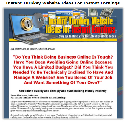 Instant Turnkey Website Ideas For Instant Earnings
